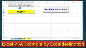 vba code to add new sheet and rename excel vba example by