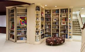 Secret Door Bookcase Hidden Door Bookcase Closet Basement Transitional With Secret