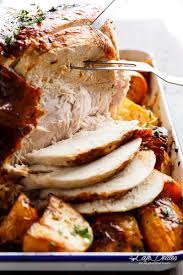 herb turkey recipes thanksgiving one pan juicy herb roasted turkey u0026 potatoes with gravy cafe delites