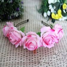 flower hair band au wedding party crown floral flower hair band hair garland