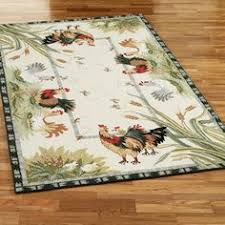 Rooster Area Rug Rooster And Chicken Themed Kitchens Country Themed Rooster Rugs