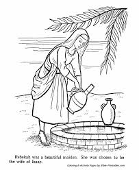 rebekah testament coloring pages bible printables