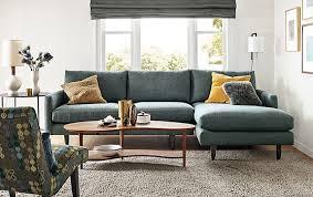 livingroom chaise jasper sofa with chaise modern living room furniture room board