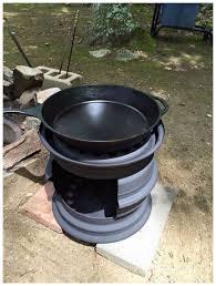 diy wood stove made from tire rims isavea2z com