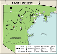Michigan Orv Trail Maps by Bewabic State Parkmaps U0026 Area Guide Shoreline Visitors Guide