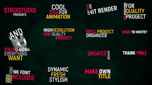 after effects typography template 28 images typography title