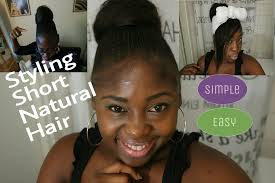 diy easy hairstyles on short natural hair no sewing bun