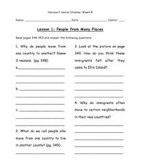 collection of solutions harcourt social studies grade 5 worksheets