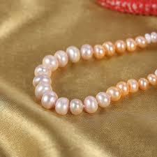 pearl necklace stores images Freshwater knotted pearl necklace with pearls in mixed sizes and jpg
