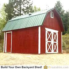 pictures of gambrel sheds photos showy 12 16 cabin plans corglife