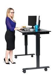 standing computer desk amazon desk 40 dark walnut shelves mobile ergonomic stand up computer