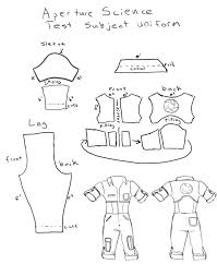 portal jumpsuit chell costume jumpsuit pattern by lambda2441 on deviantart