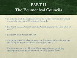 Ecumenical Councils Of The Catholic Church Definition Chapter 4 The Church Fathers And Heresies The Popes The Church