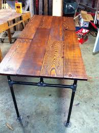 custom made barn wood fir and cast iron pipe desk by j u0026s reclaimed