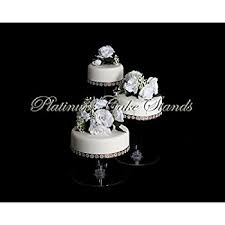 3 tier wedding cake stand 3 tier cascade wedding cake stand with 3 votive candle