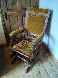 Antique Victorian Rocking Chair American Style Wooden Rocking Glider Chair Antique Vintage