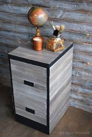 Chalk Paint On Metal Filing Cabinet File Cabinet Upcycle With Wrapping Paper Chalk Paint Decoupage