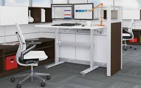 Sit Stand Office Desk The Health Benefits Of A Sit Stand Desk Office Designs