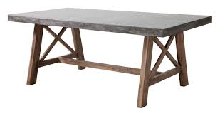 Nesting Dining Table Zuo Modern Outdoor 1 Piece Poly Cement And Acacia Wood Cement And