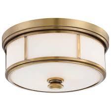 gold flush mount light minka lavery harbour point 2 light liberty gold flushmount 4365 249