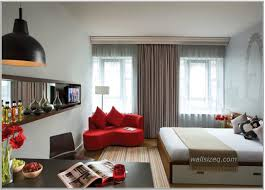 Red And Turquoise Living Room by Apartment Apartment Bedroom Idea With Master Bed In Shabby White