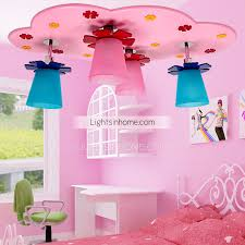 bedroom ceiling lights with pink color 4 light iron