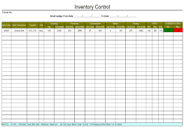 stock list format