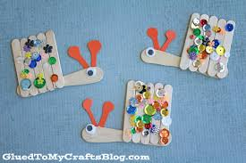 popsicle stick snails kid craft glued to my crafts