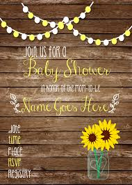 sunflower baby shower invitations u2013 gangcraft net