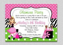 birthday party invitations girl birthday spa invitation girl birthday