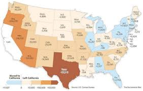 california exports its poor to texas other states while