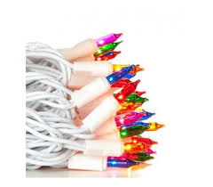 mini lights multi color white wire