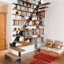 Living Room With Stairs Design 20 Ways To Turn Stairs Into An Amazing Bookshelf Library