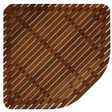 amazon com bare decor 30 by 30 inch erika corner shower spa mat