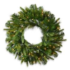 buy pre lit wreath from bed bath beyond
