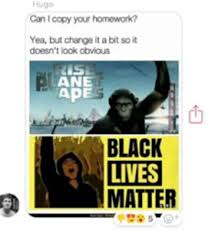 Planet Of The Apes Meme - uk student who compared blm to planet of the apes says he didn t