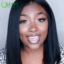 12 130 150 density silky straight yaki 13 6 lace front wig 7a