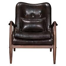 barbarella brown modern chair ottoman set eurway
