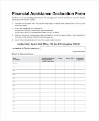 Declaration In Resume Sample Financial Declaration Form 58 Appendix 5 M Saa Content