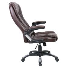High Desk Chair Design Ideas Brown Top Grain Leather Executive Desk Chair With Reclining High