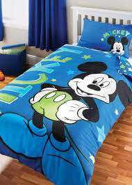 Mickey Mouse Room Decor Small Bed On The Wooden Floor Mickey Mouse Room Decorating Ideas