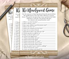 the newlywed game bridal shower game guess what the groom
