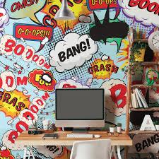 pop art graffiti wall murals graham brown comic pop wall mural