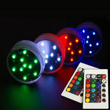 remote control battery lights submersible led light remote controlled battery operated rgb multi