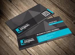 Business Card Layout Psd Free Dark Business Card Template With Qr Code Psd Titanui