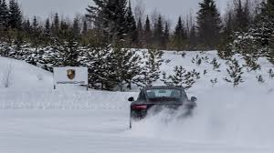 porsche 911 winter driving porsche 911s and 718 caymans on at c4 canada