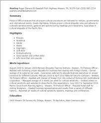 Telemetry Nurse Resume Sample by Professional Protocol Officer Templates To Showcase Your Talent