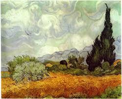 van gogh vincent wheat field with cypresses 1889 van gogh