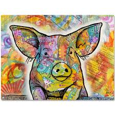 cute pig farm animal dean russo metal sign pet decor