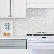 White Iridescent Hexagon Tile Kitchen Backsplash Tiles Design Ideas - Hexagon tile backsplash